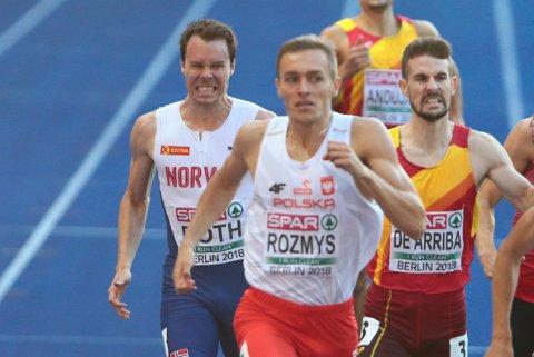 NÆR EM-FINALE: Thomas Roth (t.v.) misset EM-finalen på 800 meter med tre hundredeler. Nå er han klar for norgesmesterskapet i friidrett. FOTO: NTB SCANPIX