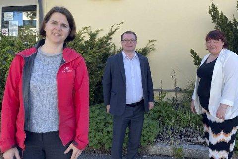 Står opp for campus: Solveig Schytz, Boye Bjerkholt og Margrethe Prahl Reusch står opp for et sterkt OsloMet i Lillestrøm.