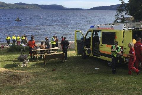 TRAGISK ULYKKE: En mann omkom under bading på Gjerdal tirsdag.