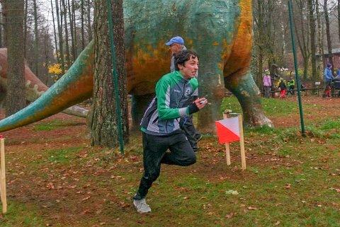 INNSATSPREMIE: Trym A. Storhaug underveis i løpet som ga seier i den zoologiske hagen.