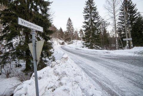 HISTORISK: Veien heter fortsatt Verpen men Harald Wærpen mener forbokstaven må byttes ut med en «W» slik at det blir historisk korrekt.