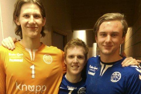 God innsats: Sander Akerlie, Erik Lovén og Henrik Sliper. Foto: Trond Sørøy