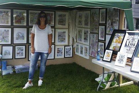 Lisa Ruhe gleder seg til helgens utstilling i Drammen.