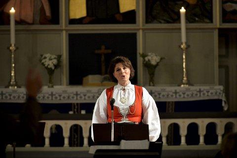 Gode solister: Koret har mange gode solister. Janne Friele Heian er en av dem.