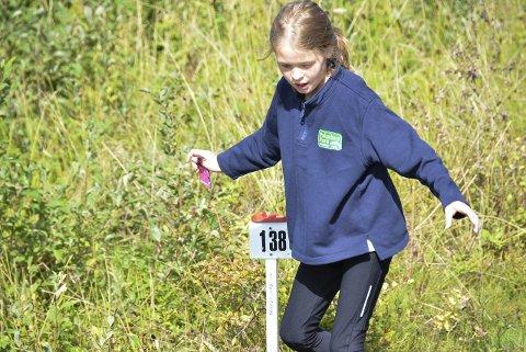 Debutant: SOK-jenta Catharina Bakke Hegvik (10) stilte i sitt aller første orienteringsløp lørdag. – Det var veldig moro, sier hun.