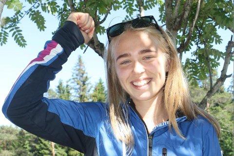 BEST: Ella Arentz Hagen fra Sandefjord OK imponerte stort med å være best i norgescupløpet i Oslo.