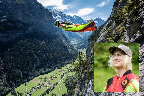 Familien samler inn penger: Wingsuitflygeren Ludvig Felix Lorentzen trenger mer midler for å bli blant de beste flygerne i verden.