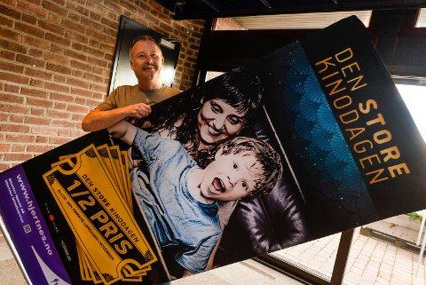 DEN STORE KINODAGEN: I følge kinosjef Bjørn Helge Jahnsen er det 26 filmer som står på programmet og her skal det være noe for besøkende i alle aldre.. Det blir gjensyn med flere publikumsfavoritter, norgespremierer og førpremierer.