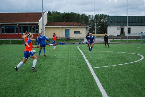 FARTSFYLT: Det var høyt tempo på onsdagens trening på Fevang idrettspark