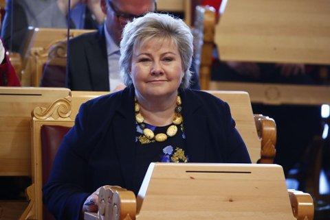 Statsminister Erna Solberg deltok onsdag i spontanspørretimen i Stortinget.
