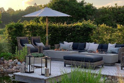 UTEKOS: Firmaet Elementi opplever en solid salgsvekst av ulike ildsteder til terrassen eller hagen for eksempel.
