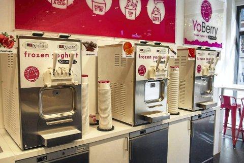 KJEDE: Sandefjord-selskapet Froyo AS drev for noen år siden ni utsalgssteder for yoghurtis, og hadde til sammen 71 ansatte før det gikk over ende.