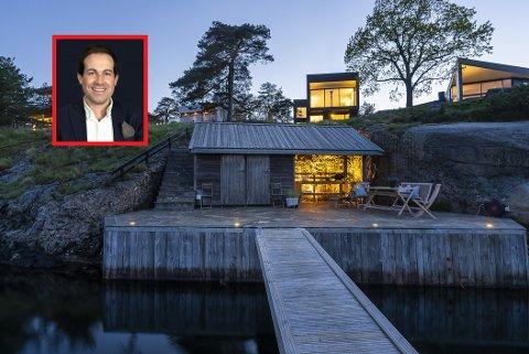 FOR FÅ: Didrik Schou i Eie skulle gjerne hatt flere sjønære eiendommer på markedet, som denne i Båtstangveien.