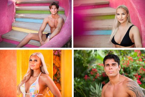 Emil øverst til venstre er med i årets utgave av Paradise Hotel.