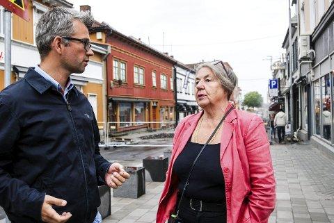Henrik Meyer og Grete Moræus Stray tror på et godt resultat i Glengsgata. (Foto: Pål Vikesland)