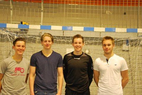 UNGGUTTA: Daniel Jensen, August Storbukt, Markus Nikolaisen og Marius Rossfjord.