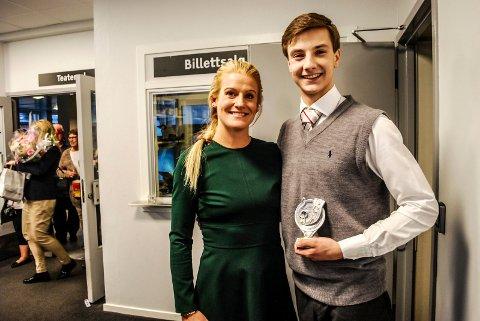 SIDEN STARTEN: Malin Schavenius har fulgt Tinius Gustavsen siden starten i Villekulla, og hun skryter av framgangen hans.