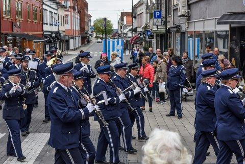 Spiller opp: Hafslundsøy Musikkorps spiller på Høysand søndag 25. mars.