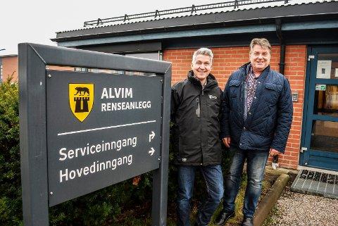BLIR LAGT NED: Hvis man velger å inngå et samarbeid om ett felles renseanlegg for Sarpsborg og Fredrikstad på Øra, blir anlegget på Alvim lagt ned, bekrefter Ap-politiker Tor Egil Brusevold og direktør teknisk, Hasse Ekman, i Sarpsborg kommune.