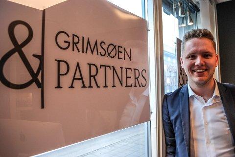 HOVEDEIER: Jonas Grimsøen blir hovedaksjonær i det nye meglerfirmaet Grimsøen & Partners.