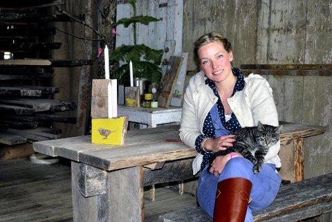 Fast spaltist: Stine Marie Bjørnstad (40) skal medvirke i 12 utgaver av Hyttemagasinet.