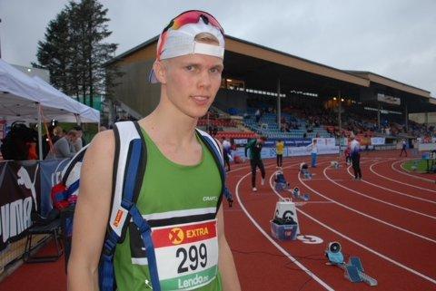 GJENNOMBRUDDSMANN: Benjamin Olsen kunne forlate Kristiansand stadion med en NM-debut av de sjeldne på samvittigheten.