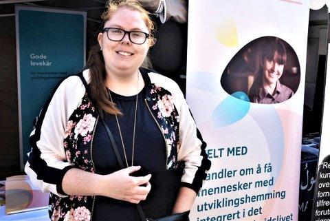 FRA TRYGD TIL JOBB: Ida Marie Færsand har fått en helt ny hverdag etter at hun kom seg ut i arbeidslivet.