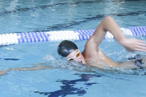 FORNØYD: Ludvik Svarstad var kun 14 hundredeler fra finaleplass, men var fornøyd over svømmingen sin i NM.