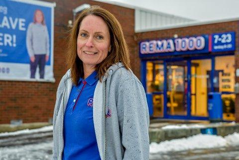 Line Huseby (47) er ny kjøpmann på Rema 1000 butikken på Korsegården.