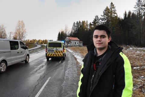MANGE ULYKKER: Det har vært mange ulykker like ved huset mitt, sier Karim Bougacha (23)