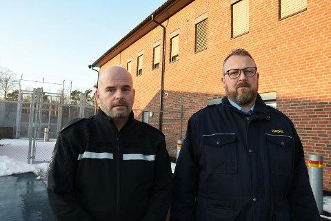 FRYKTER FOR JOBBENE: Espen Hvidsten (NFF) og Jørgen Nygaard (KY) er bekymret for kutt.