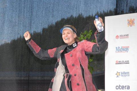 OVERRASKET: Marianne Berger var bare 19 år gammel da hun på LS i 2009 i Evje ble skytterprinsesse. Nå, ti år senere og på samme sted, drømmer hun om å gjøre det samme.