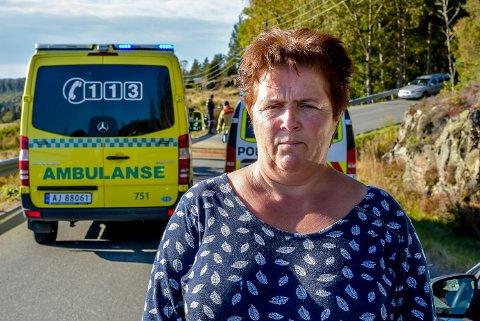 Anita Fjeld Borgen (53) stoppet og hjalp da hun kom til ulykkesstedet.