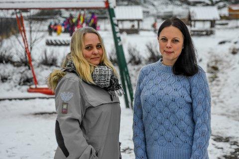 Barnehagestyrerne i Stubbeskogen gårds- og naturbarnehage, Kristin Sanne (t.v.) og Camilla Schi (t.h.).
