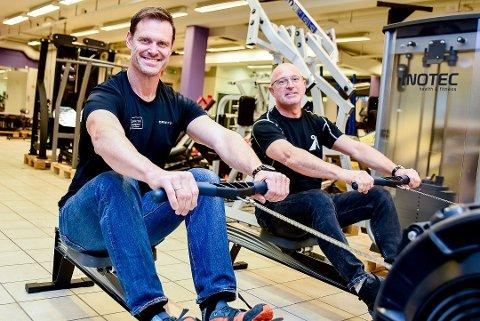 DRAR I GANG NYTT SENTER: Roddy McLeod (t.v.) og Thorbjørn Berger starter opp treningssenter i Spydeberg. Navnet blir ACE Xpress og blir å finne i Lysetun-bygget.