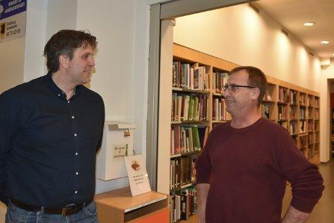 FIKK SPØRSMPL: Vy-sjef Trond Olav Hansen ble konfrontert av Torleif Pettersen på Mysen.