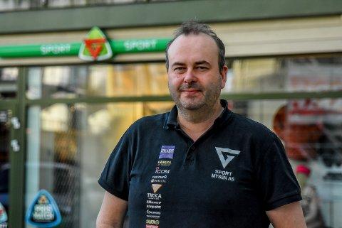 Daglig leder Karl-Tore Sørby i G-sport Mysen. Arkivfoto.