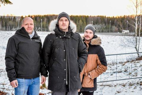 Tom Freddy Braathen, Thomas Gulbrandsen og Audun Leivestad Johansen synes det er merkelig at det skal bygges boliger enda nærmere E18.