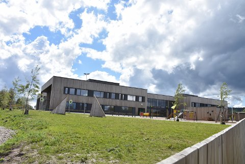 Ledelsen ved Bjørkelangen skole ber om at elevene går sammen hjem ved skoleslutt. Arkivfoto: Trym Helbostad