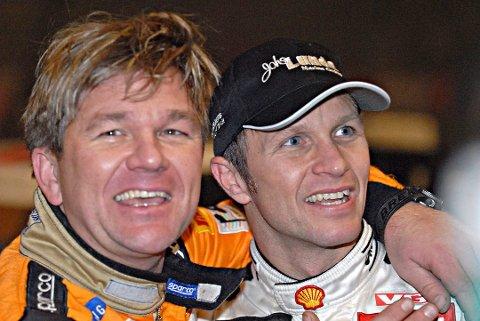 RIVALER PÅ BANEN: Henning og Petter Solberg har noen episoder fra rallybanen sammen. Arkivfoto: Tom-Vegard Feltstykket