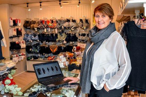 Merethe Kviserud Jonassen har laget nettbutikk til Korsetten i Mysen.