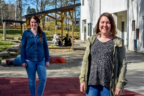 GÅTT BRA: Assisterende leder i Prestenga barnehage, Marita Engjom (t.v.) og enhetslederen, Lene Ruud Andresen sier at det har gått bra den første dagen barnehagen var gjenåpnet.