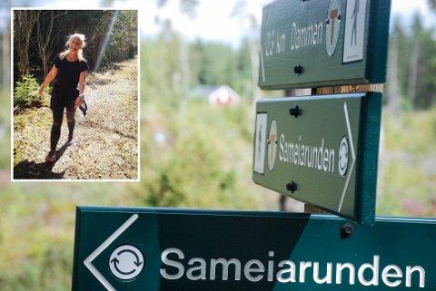 SAMEIARUNDEN: Denne turstien er farlig for turgåere uten skikkelig beskyttelse.