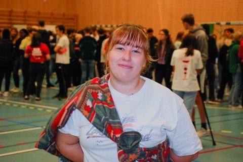 LEDER: Sarah Bjerkeng (18) fra Askim er elevrådsleder ved Askim videregående skole.
