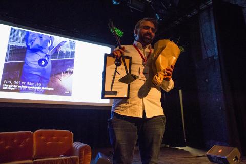 NRK-journalist Syed Ali Shahbaz Akhtar mottok fredag kveld prisen for årets nyhetssak.