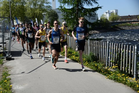 Eirik Nordvik (37) fra Steinkjer og Alexander Kirkeberg fra Malm(162) var de to raskeste og tok føringen fra første meter.