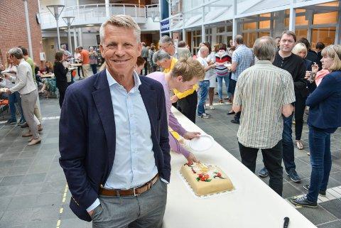 NY STATUS: Prorektor Kristian Bogen ved Høgskolen i Sørøst-Norge, snart Universitetet i Sørøst-Norge.