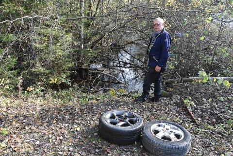 SINT: Ove Bringsrud blir forbannet, trist og lei seg når han ser at folk kaster søppel og andre ting i naturen.