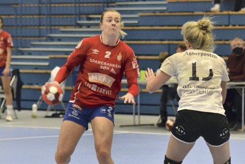 Banens beste: Gjerpens Oda Olsen ble fortjent kåret til hjemmelagets beste spiller etter kampen mot Grane Arendal. FOTO: TOM EIK BAUGERUD