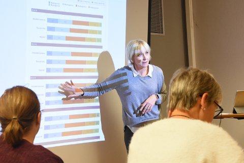 ALVORLIG SITUASJON: Liv Birgit Tobiassen opplyste Utvalg for oppvekst, kultur og idrett om at elevene i Notodden har svake resultater på nasjonale prøver.